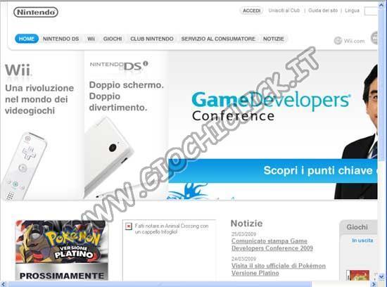 Sito Ufficiale Nintendo